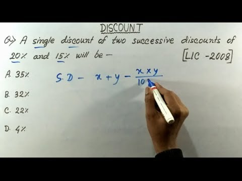 DISCOUNT short tricks in hindi | Discount problems shortcuts
