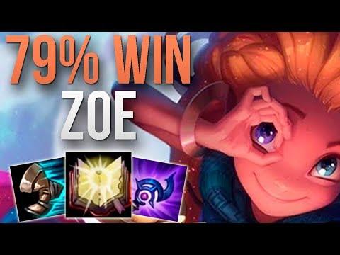 CHALLENGER 79% WIN RATE ZOE!   CHALLENGER ZOE MID GAMEPLAY   Patch 9.24 S9