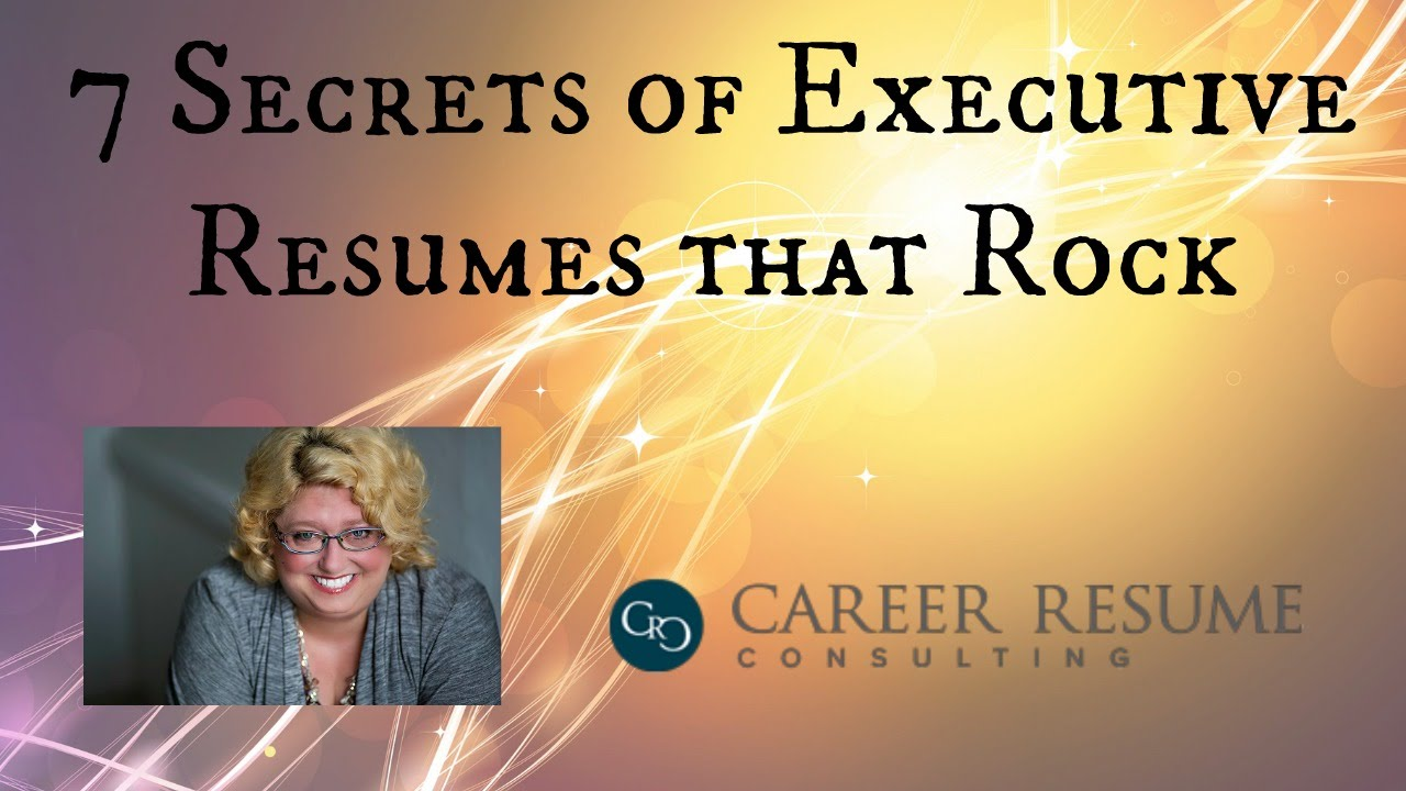 Resume Tips 7 Characteristics of a Great Executive Resume or CV