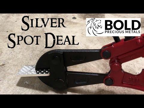 Bold Precious Metals Silver Spot Deal