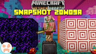CRYING OBSIDIAN, TARGET BLOCK & MORE! | Minecraft 1.16 Nether Update Snapshot 20w09a