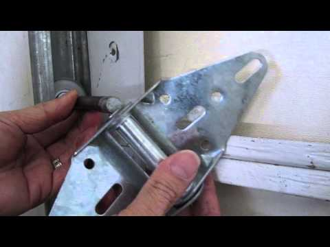 How To Repair A Broken Garage Door Hinge or Replace a Roller