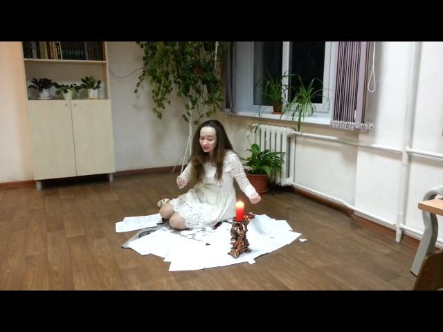 Изображение предпросмотра прочтения – АлёнаЛукьянова читает произведение «Она сидела наполу…» Ф.И.Тютчева