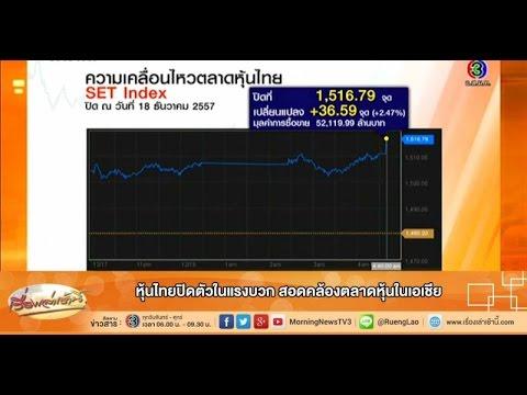 เรื่องเล่าเช้านี้ หุ้นไทยปิดตัวในแรงบวก สอดคล้องตลาดหุ้นในเอเชีย  (19 ธ.ค.57)