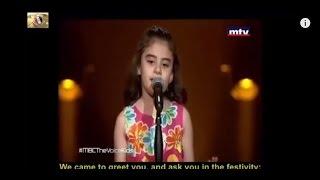 syrian Girl Breaks Into Tears - The Voice
