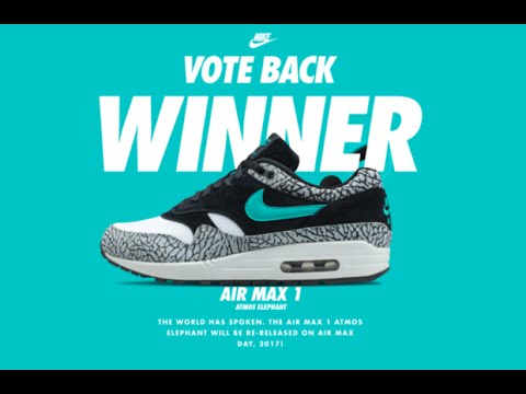 5ee839f5b1 Nike Air Max Day 2016 Vote Back Winner and Voting Process - YouTube