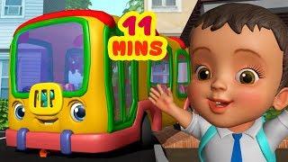 స్కూల్ బస్సు పిల్లల పాట - School Bus Song | Telugu Rhymes for Children | infobells