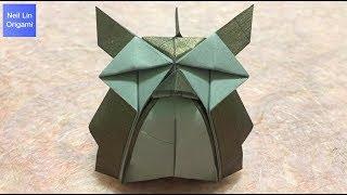 貓頭鷹摺紙教學 / 如何用一張紙折疊3D立體貓頭鷹 手工折紙