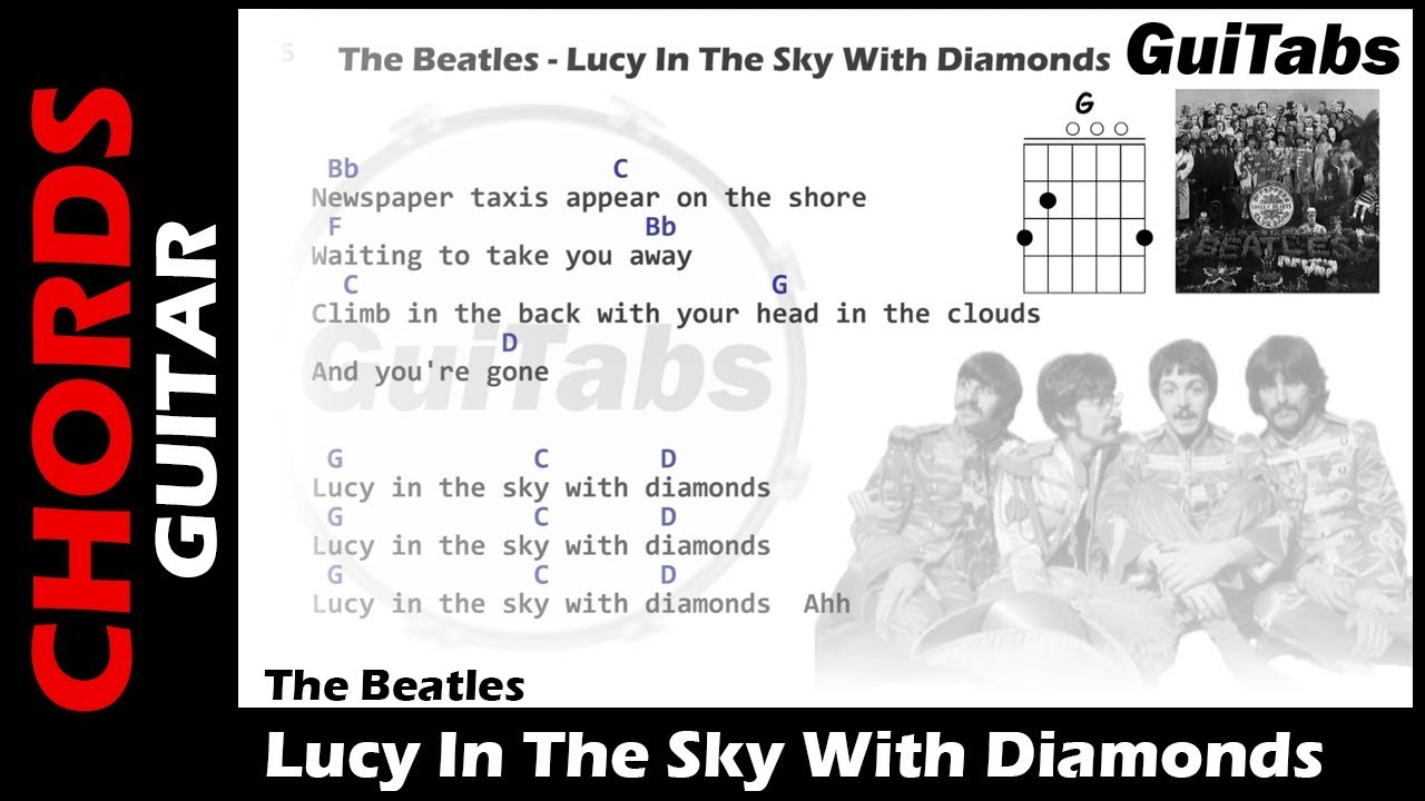 The Beatles Lucy In Sky With Diamonds Lyrics And Guitar Chords