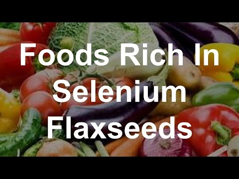 Foods Rich In Selenium - Flaxseeds