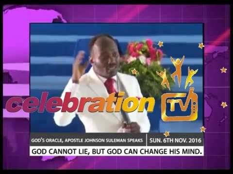 Apostle Johnson Suleman Speaks Concerning U.S Presidential Election On Sun. 6th Nov. 2016