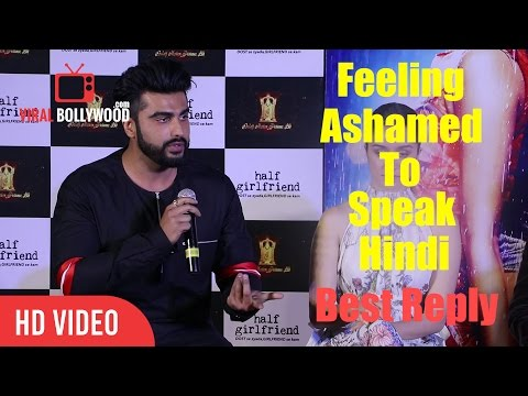 Arjun Kapoor Best Speech On Feeling Ashamed To Speak Hindi | English Is not Our National language