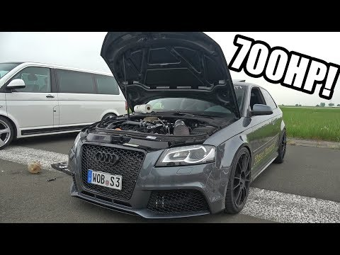 700HP Audi S3 8P Turbo Technik Sami - 1/2 Mile Accelerations!