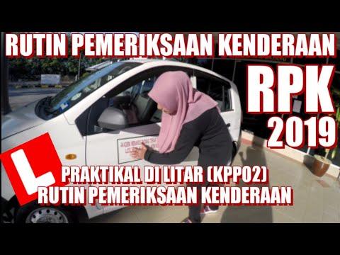 Rutin Pemeriksaan Kenderaan RPK (KPP02) kemaskini 2019