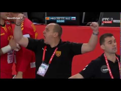 Macedonia vs Slovenia 25:24 Handball EURO 2018 | The Best Macedonian Action & Goals vs Slovenia