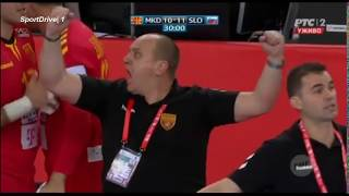 Macedonia vs Slovenia 25:24 Handball EURO 2018 | The Best Macedonian Action & Goals vs Slovenia
