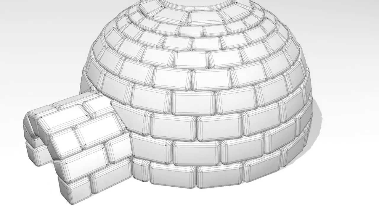 Hervorragend 3d Igloo turntable - YouTube DU22