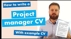 Project manager CV writing guide + example CV [Get hired quickly]