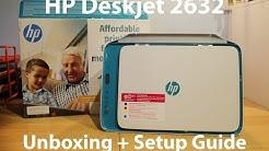 HP Deskjet 2632 Unboxing + Setup Guide