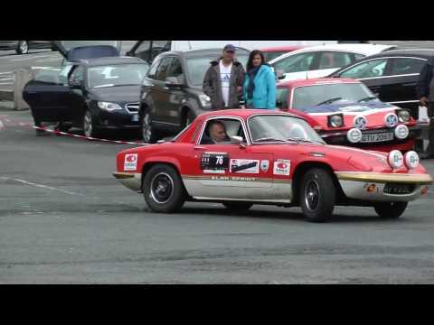 Lotus Elan Short Auto Test at Caernarfon Harbour car park.