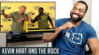 Kevin Hart and The Rock Johnson Funniest Moments - REACTION!