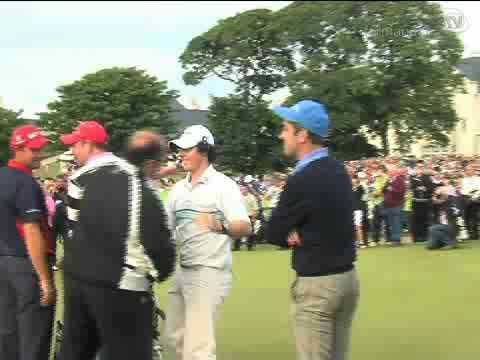 Golf greats Harrington and McIlroy