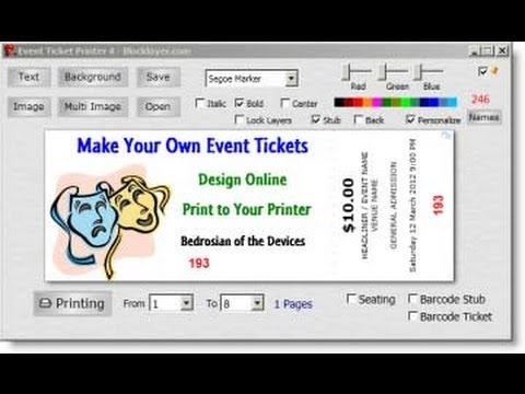 Easy Ticket Creator Software - Youtube