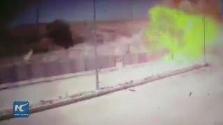 ِشاهد.. لحظة تفجير سيارة مفخخة في مدنيين وعسكريين بتركيا
