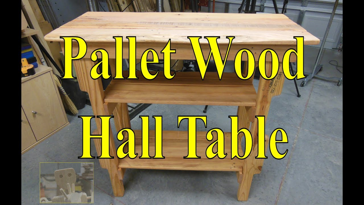 Hall Table Made From Upcycled Pallets