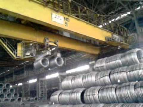 Wire Rod Mill ( Packaging of Wires in Bundle at Vizag Steel Plant )