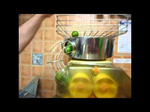 Juicing small limes and lemons on a Zumex Speed juicer ...