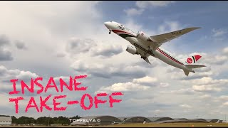 Epic steep Takeoff Boeing 787 You'll never take a passenger flight that starts this way