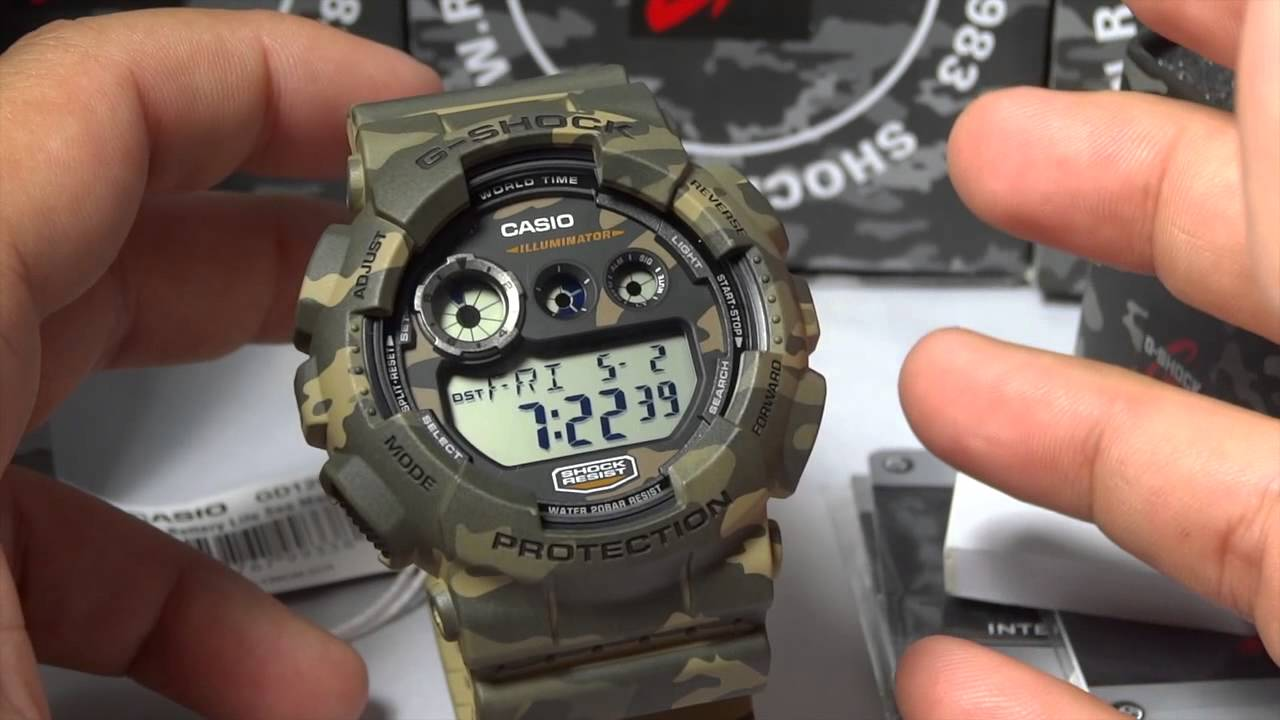 CASIO G SHOCK REVIEW AND UNBOXING GD 120CM 5 WOODLAND CAMOUFLAGE SEIRES