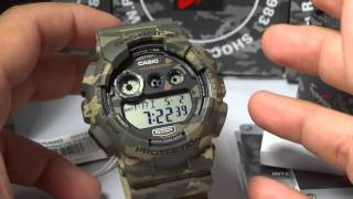 CASIO G-SHOCK REVIEW AND UNBOXING GD-120CM-5 WOODLAND CAMOUFLAGE SEIRES