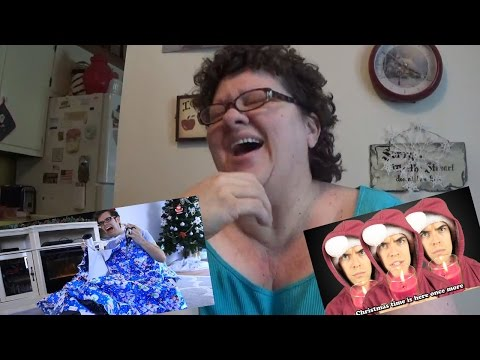 My Mom reacts to Royalty Free Christmas songs by Jacksfilms