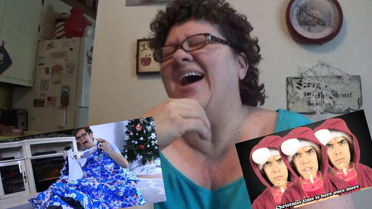 My Mom reacts to Royalty Free Christmas songs by Jacksfilms - YouTube