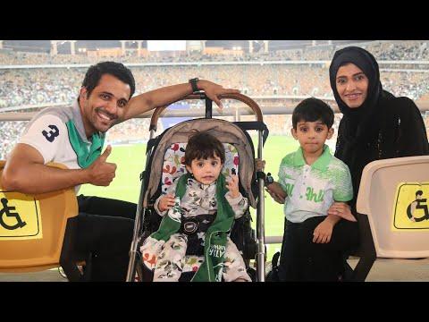 لاول مرة في تاريخ السعودية دخول النساء للملاعب 🇸🇦