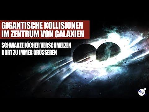 Gigantische Kollisionen im Zentrum von Galaxien