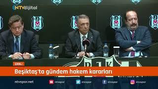 Beşiktaş Başkanı Ahmet Nur Çebi açıklama yapıyor