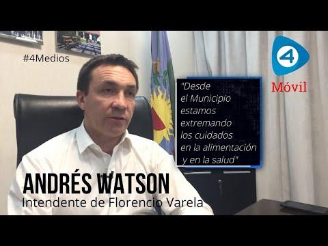 Andrés Watson con Cuatro Medios. Entrevista al intendente de Florencio Varela