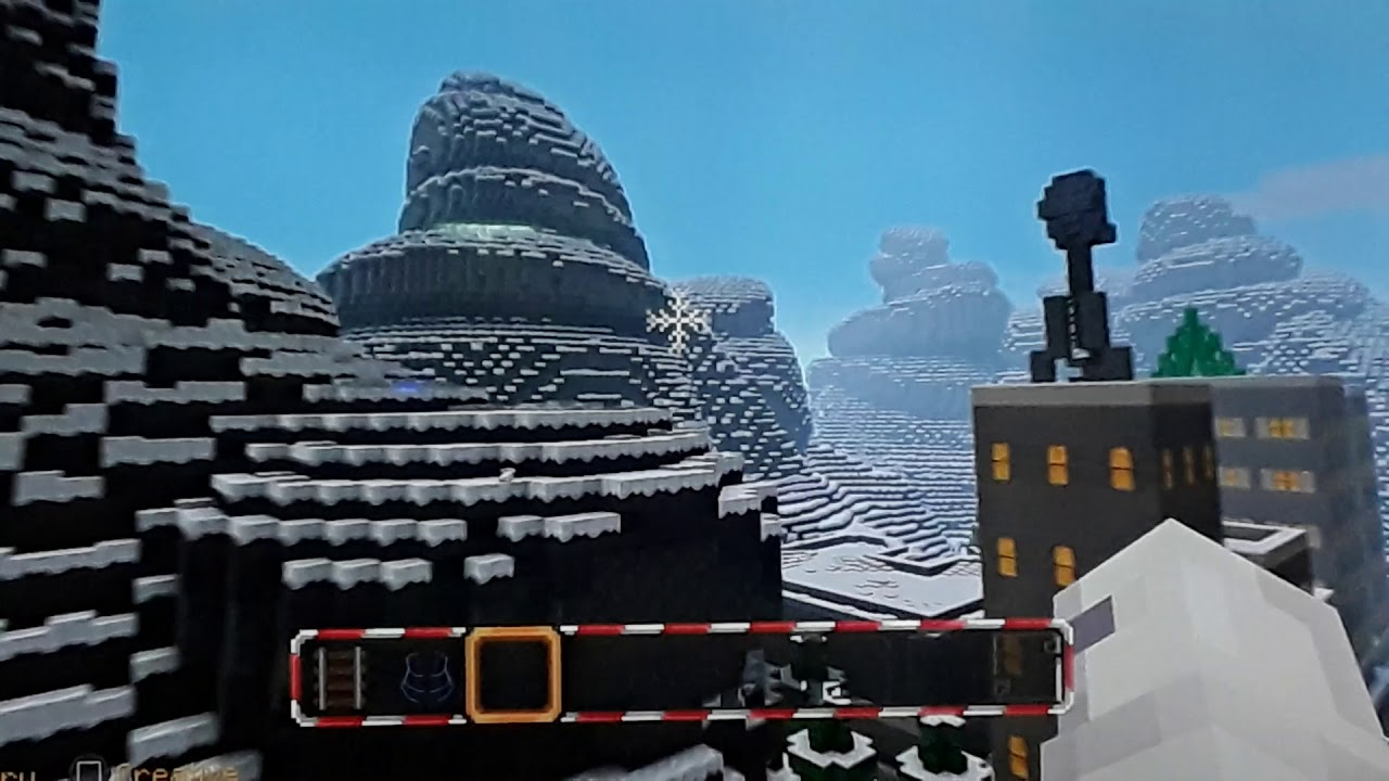 Christmas Minecraft World.The Nightmare Before Christmas World Minecraft