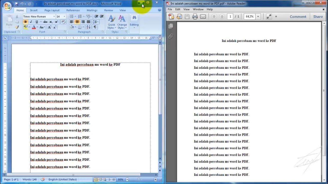ubah word ke pdf