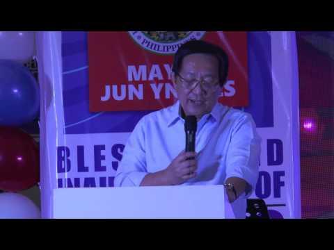 Hospital Inauguration Speech by Cong. Romeo Acop