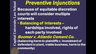 Remedies Video Lecture 7 - Preventive Injunctions