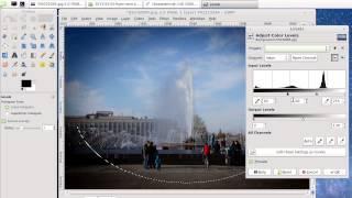 Уроки Gimp  Виньетирование фото