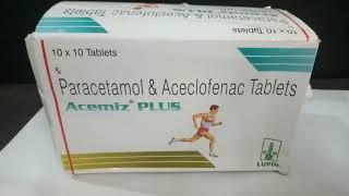 हड्डियों और जोड़ो के दर्द की  दवा  Acemiz Plus Tablet Full Review