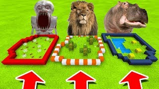 Minecraft PE : DO NOT CHOOSE THE WRONG FARM! (SCP-096, Lion & Hippo)