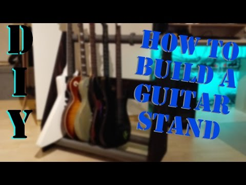 How to build a Guitar Stand - DO IT YOURSELF without busting the bank!