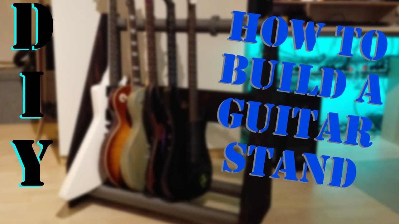 how to build a guitar stand do it yourself without busting the bank