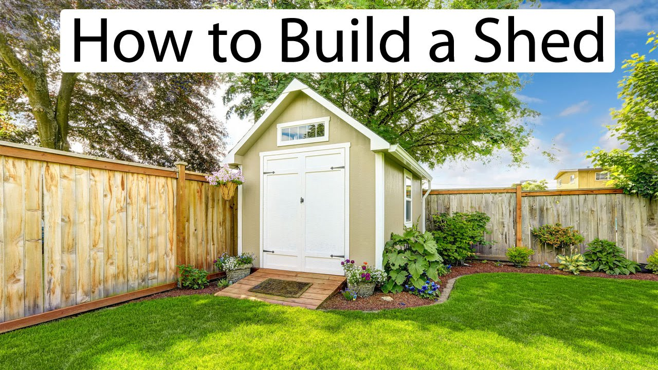 How to build a shed learn how to build your own shed for Design and build your own shed